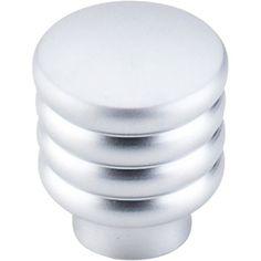 """Modern Deco Knob 1"""" Aluminum - Aluminum"""