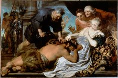 """Samson and Delilah"" by Anthony van Dyck, ca. 1618, Oil on canvas"
