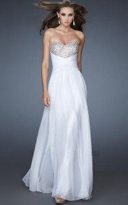 Strapless Angelic White Long Prom Dress on Sale Fashion [White Prom Dresses] - $179.00 : Discount Dresses for Prom 2013,Up 50% Off