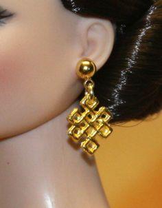 """Orient"" GP Earrings for Tonner Tyler Cami Ellowyne Dee Anna AM Gene Sybarite"