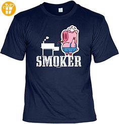 Griller T-Shirt - SMOKER - FunHemd für BBQ und Grillen - Shirts mit spruch (*Partner-Link)