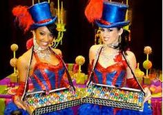 Serving staff in character brings to life the party's theme! #party #cirque