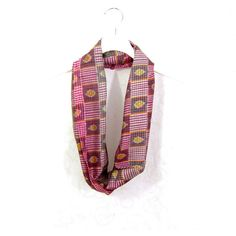Pink Plaid Scarf Sari Scarf Silk Infinity Scarf Gift for Her Spring... (€14) ❤ liked on Polyvore featuring accessories, scarves, summer scarves, tartan infinity scarf, infinity scarf, circle scarf and lightweight summer scarves