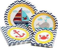 Ahoy Matey Party Table Ware Kit