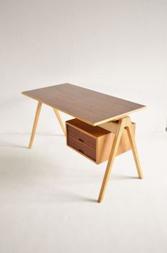 Hille, London 1950s Office Desk | Loving Wood | Furniture