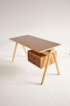 Hille, London 1950s Office Desk | Loving Wood | Furniture