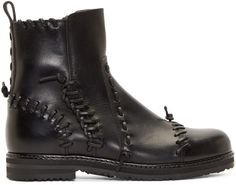 Maison Margiela Black Leather Knot Boots