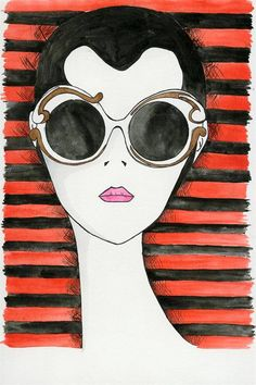 Minimal-Baroque_prada-illustration-lookbook-Andrea Tarella love the stripes in water colour