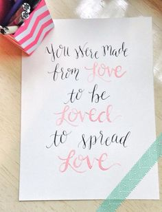 Calligraphy Kid President Quote on Etsy