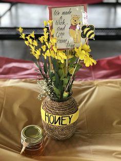 Center Piece for Winnie the Pooh Baby Shower theme #HoneyJar