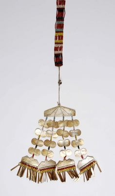 Philippines, Luzon Island | Ornament / pectoral (Sipattal) from the Isneg people | Shell, beads, fiber, metal | 310 € ~ sold (Apr '13)