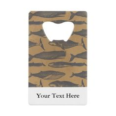 Tan Navy Nautical Whales Distressed Custom Text Credit Card Bottle Opener more nautical themed gifts at www.mouseandmarker.com.  Great personalized credit card sized bottle openers with custom name or text.  A great fish extender gift idea for your next disney cruise line vacation.