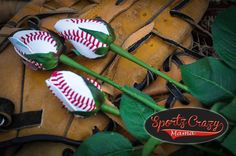 Baseball  Rose 12 for the price of 10 by SportzCrazyMama on Etsy, $140.00