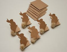 Kraft bunny tags - love the tails!