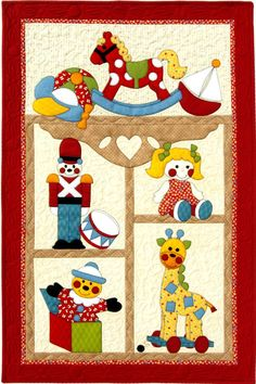 Toy Time Pattern - Kids Quilts You are in the right place about patchwork quilting beginner Here we offer you the most beautiful pictures about the patchwork quilting baby you are looking for. Quilt Baby, Cot Quilt, Baby Quilt Patterns, Baby Girl Quilts, Girls Quilts, Applique Patterns, Applique Quilts, Quilts For Kids, Children's Quilts