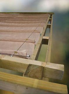 Schuifzeil 300 x 500 cm zandbeige schaduwdoek met roede tegen doorhangen Backyard Shade, Patio Shade, Pergola Shade, Shade Garden, Backyard Patio, Diy Pergola, Wooden Pergola, Outdoor Pergola, Pergola Kits