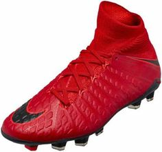 616c72132 Buy the Nike Kids Hypervenom Phantom III FG in University Red   Black and  let your youngster begin to blossom into one of the world s best strikers!