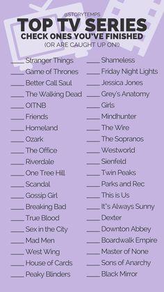 Tv show check list. #storytemps #storytemplates #storygames #instagram #facebook #survey #quiz