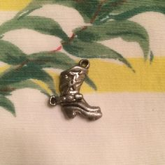 """Vintage 50s Pewter Cowboy Boot Bracelet Charm This really cute pewter cowboy boot charm is jn pristine condition. True 1940's vintage it measures just over 1"""" tall and is 1/4"""" wide. Ready to add to any bracelet or necklace. Vintage Jewelry Bracelets"""