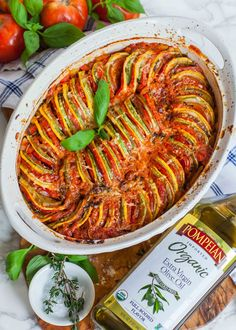 The BEST ratatouille recipe! This creamy and smoky twist on classic French ratatouille is made with zucchini, eggplant, tomatoes and smoked paprika. Vegetarian Recipes, Cooking Recipes, Healthy Recipes, Vegetarian Cooking, Easy Cooking, Vegetarian Barbecue, Italian Cooking, Oven Recipes, Easy Recipes