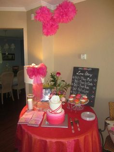 engagement party decor... Photo - how we met- activity and cake