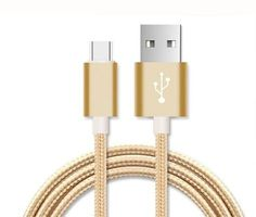 #I-Sonite (Gold) Premium Quality [ 1 METER ] USB Type-C Cable Nylon Braided Fast Charging and Data Transfer Cable with Reversible Connector For HTC U Play