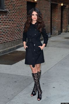 Selena Gomez - looking classy or trashy in her knee high boots?