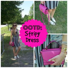 Trench Collection by Sonia Verardo: ♥ Little pink bag & striped dress ♥