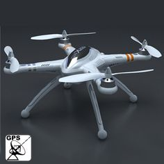 GPS Multi-channels UFO Airplane Compatible with GoPro Camera, Basic Version One (QR X350)