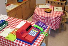 Dramatic Play Ideas-costume shop, Pizza Hut, grocery store, doctor's office, shoe store