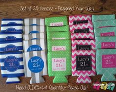 Celebrate Your Birthday Or Your Friend& Birthday In Style! Commemorate The Special Day With Personalized Koozies! Birthday Koozies Or Any Occasion Koozies Designed Your Way! Friend Birthday, 21st Birthday, Birthday Parties, 21st Party, Birthday Ideas, Holiday Parties, Special Day, Party Planning, Party Time