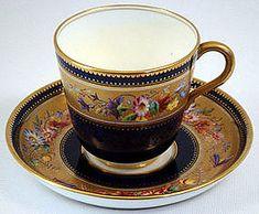 Elegant Antique English Tea Cup & Saucer