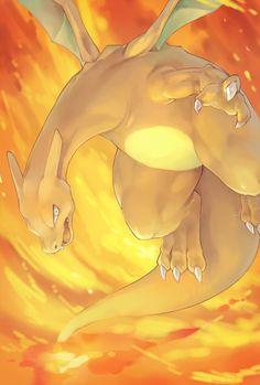 "alternative-pokemon-art: ""Artist Charizard by request. Pokemon Memes, Pokemon Fan Art, My Pokemon, Pikachu, Pokemon Stuff, Charmander Charmeleon Charizard, Charizard Tattoo, Flying Type Pokemon, Cool Pokemon Cards"