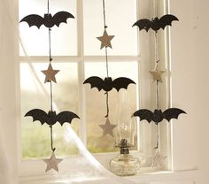 Boo Bats & Stars Garland   Pottery Barn Kids