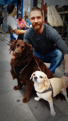 Tom Hardy may love dogs more than any other human on this planet does.