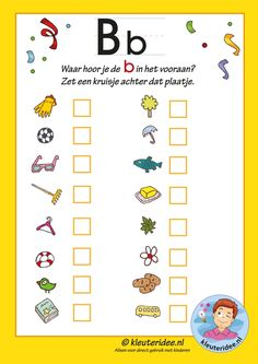 Pakket over de letter b blad in welk woord hoor je een b, waar hoor je… Letter P Activities, Pre K Activities, Letter Worksheets, Language Activities, Preschool Worksheets, Letter School, Book Week, Letter B, Home Schooling
