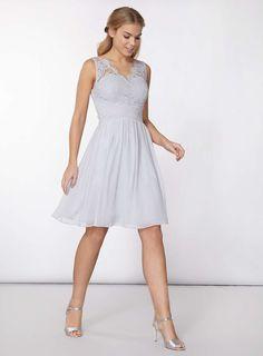Womens **Showcase Grey 'Josie' Prom Dress- Grey
