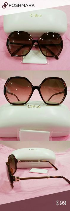 New Authentic Chloe Sunglasses in Light Brown BEAUTIFUL Authentic Chloe Sunglasses, Flawless, New, Never Worn. Comes with everything in the picture. Chloe Accessories Sunglasses