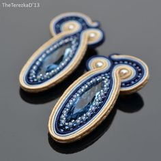 Jewel in the Crowd – Soutache and beaded jewellery Soutache Earrings, Beaded Jewelry, Swarovski, Brooch, Creative Things, Jewels, Beads, Beadwork, Polymer Clay