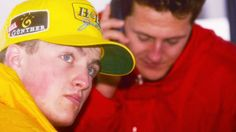 Ralf and Michael Schumacher during the 1997 tests in Jerez