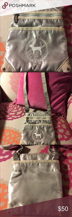 Rare Victoria's Secret PINK Silver Crossbody Purse Great rare cross-body style PINK purse. Excellent condition 💖 PINK Victoria's Secret Bags Crossbody Bags