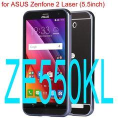 Phone Case for ASUS ZenFone 2 Laser ZE500KL Electric Plating Aluminum Metal Frame + Mirror Acrylic Back Cases For ASUS ZE550KL