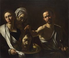 Caravaggio focuses on the essential human tragedy of the story in 'Salome receives the Head of John the Baptist'