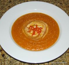 Roasted Butternut Squash and Red Pepper Soup.