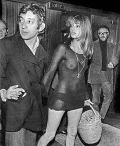 Serge Gainsbourg and Jane Birkin, undated.