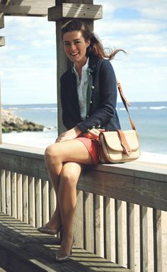 East Matunuck Beach, from Classy Girls Wear Pearls. Obviously very WASPy/New England, but I love how she makes classic looks look so modern/refreshing.