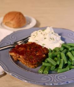 Jenna's Meatloaf - This meal always puts me back around my childhood dinner table. Meatloaf, some green beans, mashed potatoes and rolls were pretty much a weekly staple meal.
