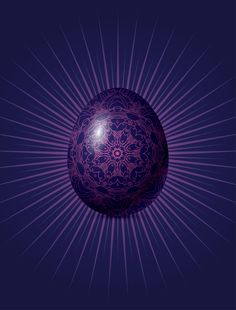 Gorgeous stylish egg for Easter poster