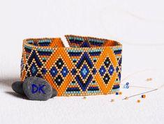 bracelet perles, manchette perles, bracelet delicas, manchette delicas…