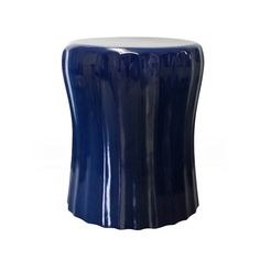 Navy Blue Wave Lacquer Accent Table - This lacquered side table is the perfect balance of modern and glam. Love it for a nursery! #PNshop